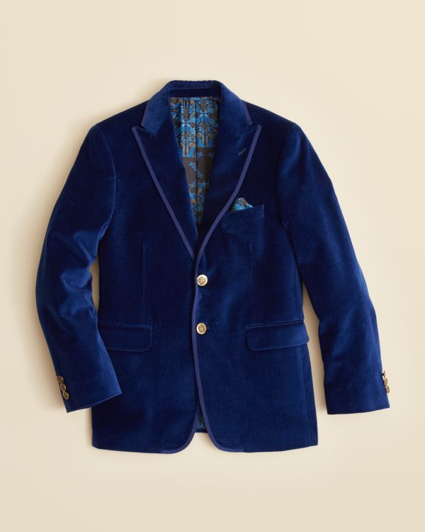 Tallia Boys' Solid Velvet Jacket - Sizes 8-20