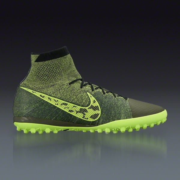 Nike Elastico Superfly Tf Midnight Fog Hyper Crimson Volt Turf Soccer Shoes