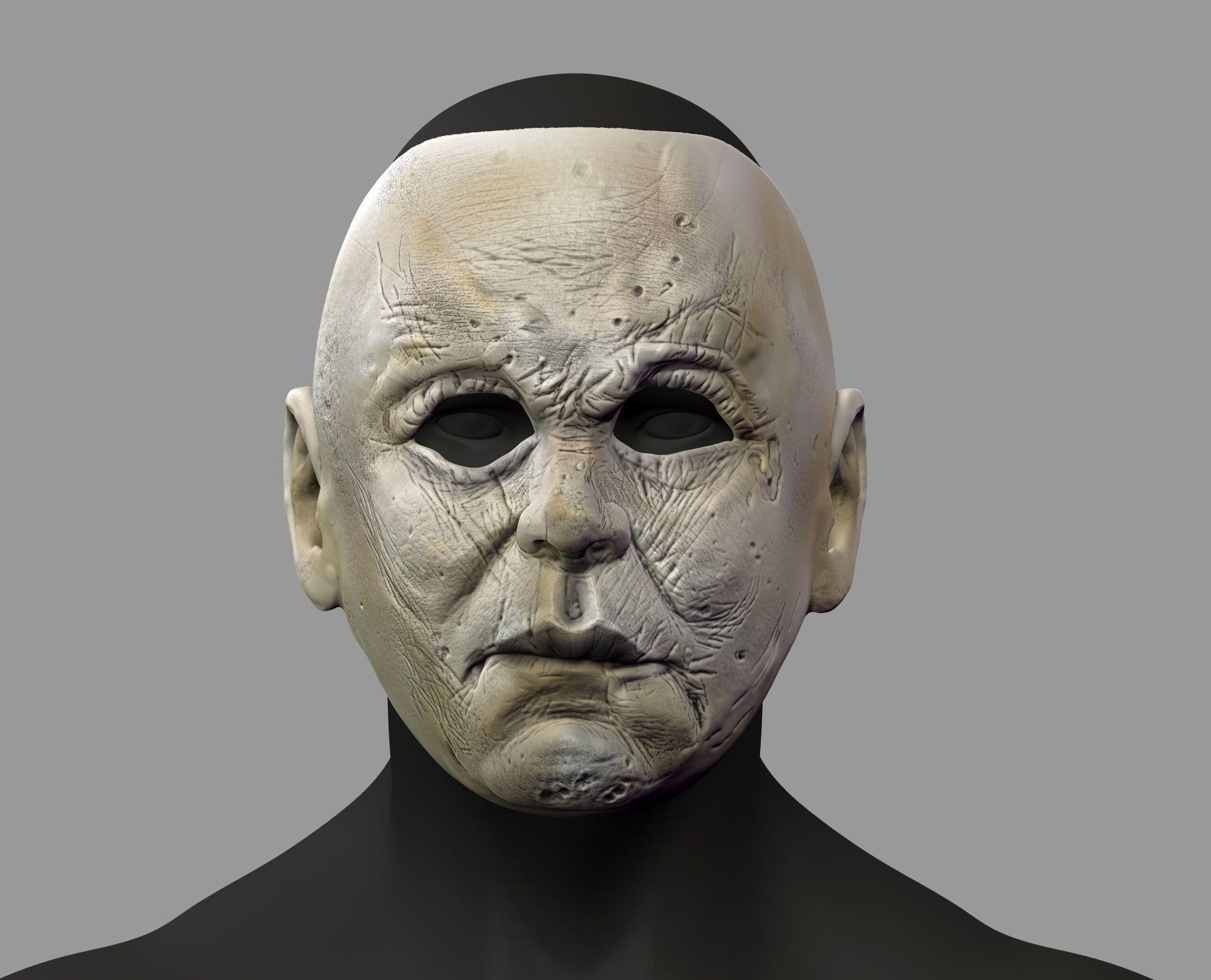 fox mask model cgtrader