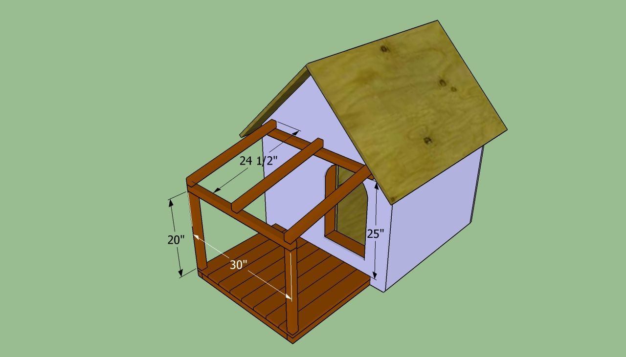 How To Build An Insulated Dog House Dog House Blueprints