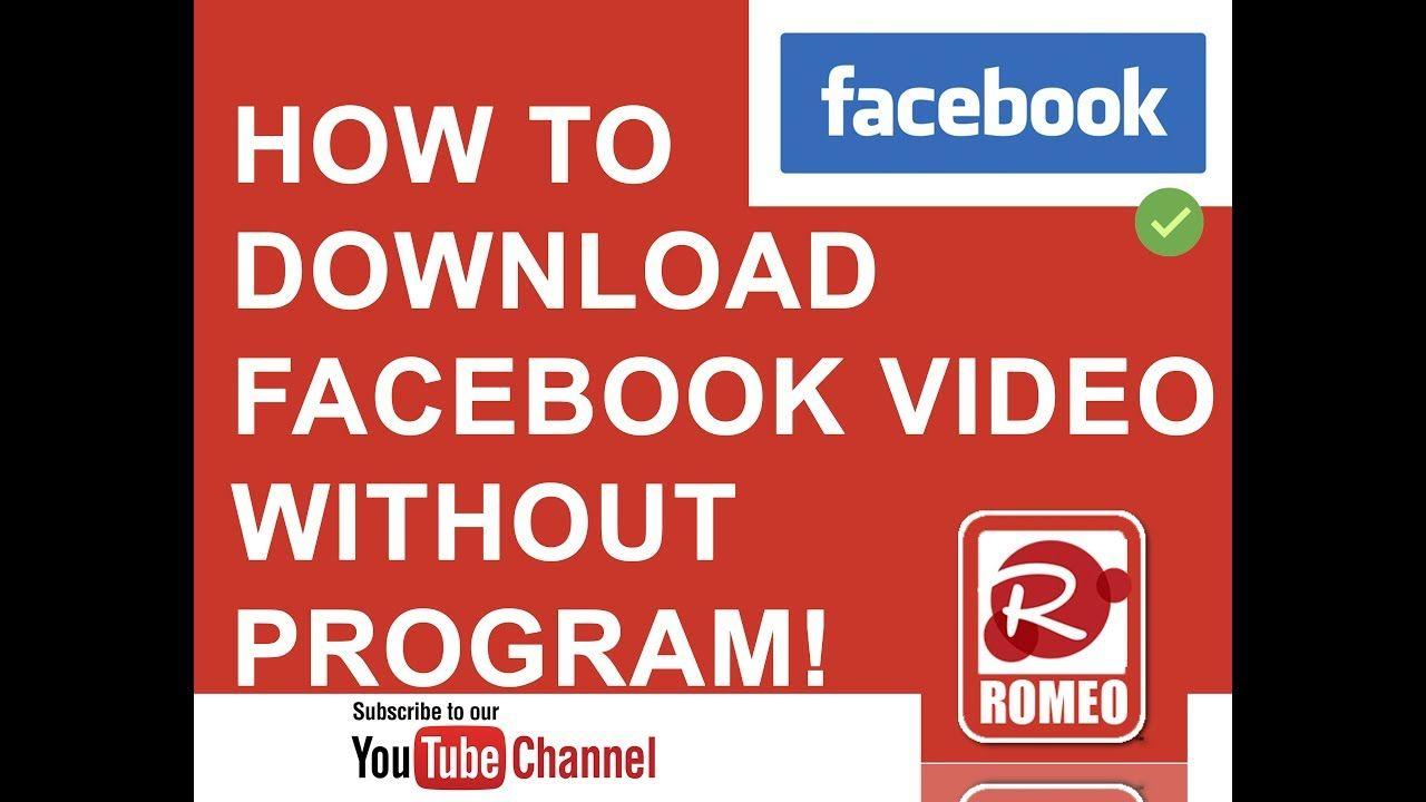 Como Bajar Videos De Facebook Sin Programas How To Download