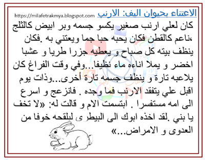 ملفات رقمية انتاج كتابي الاعتناء بحيوان اليف Math Words Education