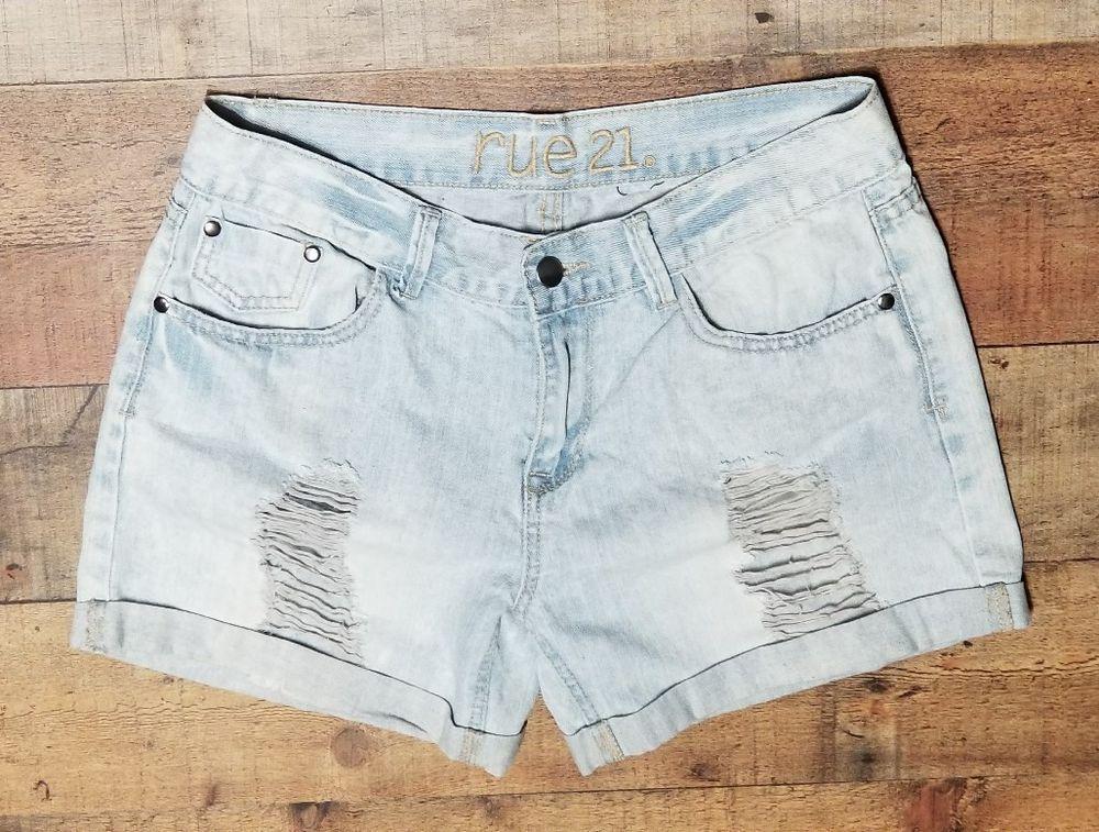f8c1b24a18b Rue 21 Jean Shorts size 5 5 distressed High waisted cut off