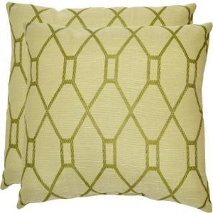 Plantation Patterns Green Trellis Patio Throw Pillow (2 Pack) 7100 02222600  At