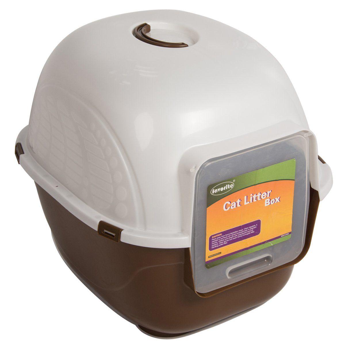 Favorite Portable Side Enter Covered Cat Litter Box, 2