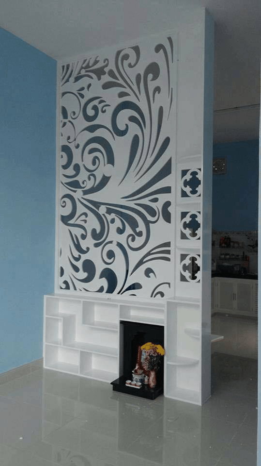 Claustra Et Separation Decoration D Interieure With Images Silver Wallpaper For Walls Door Design Wood Living Room Partition Design