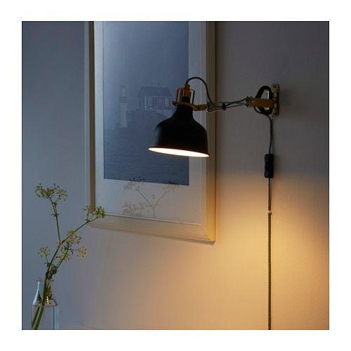 RANARP Wallclamp spotlight black | Wall lights, Wall