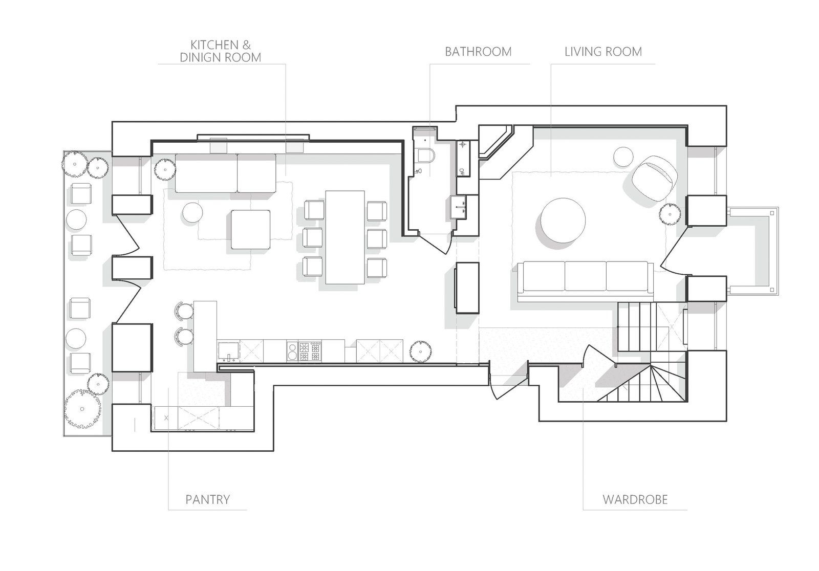 Photo 19 Of 20 In A Monochromatic Palette Unifies Old And New In This Floor Plan Drawing Dining Interior Dinign Room