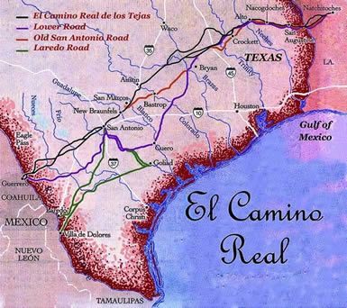 Map Of El Camino Real The Old Spanish Road Called The Camino Real