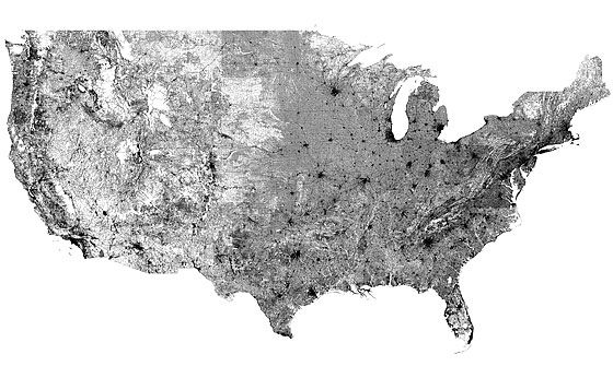 Map Of EVERY Road In The United States All On The Same Map Not