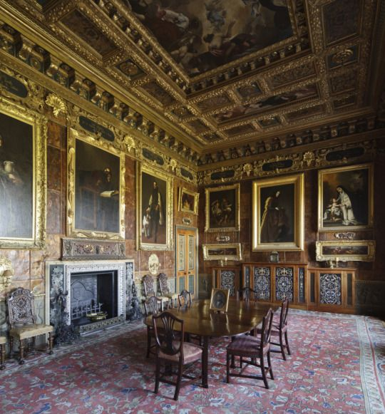 Spanish Room with leather walls - Kingston Lacey
