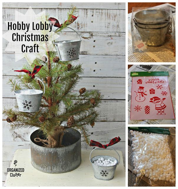 Hobby Lobby Farmhouse Christmas Crafting With Galvanized Pails