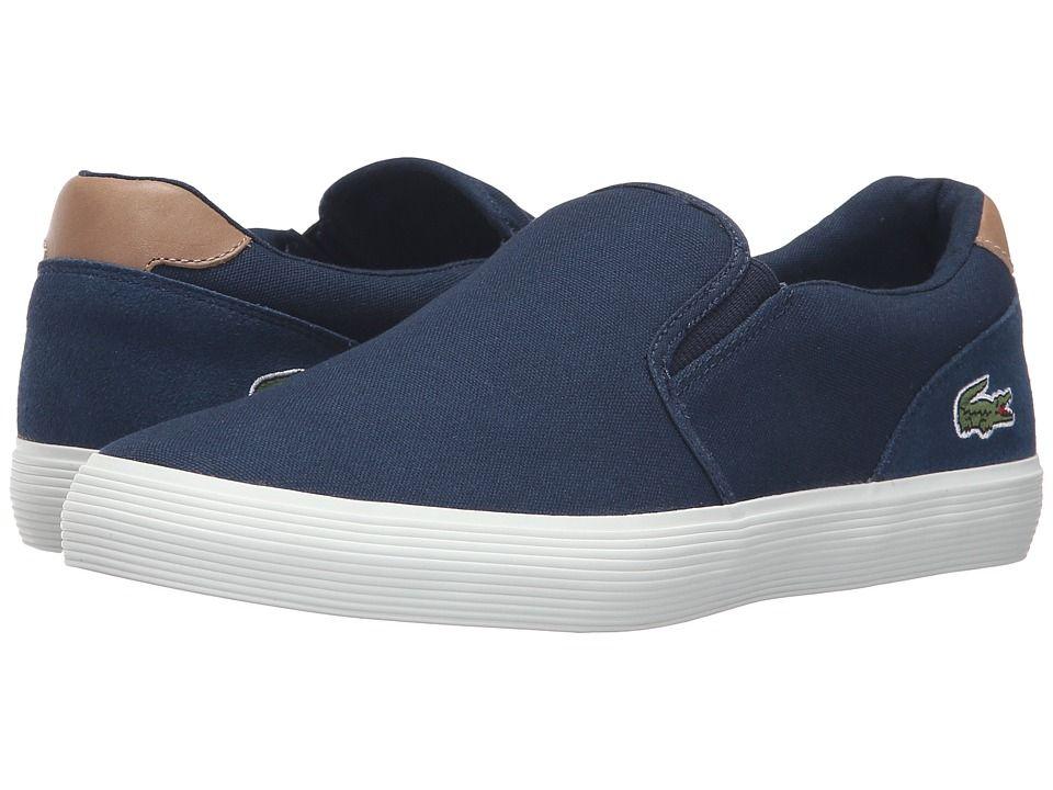 MEN'S SLIP ON SHOES. #lacoste #shoes