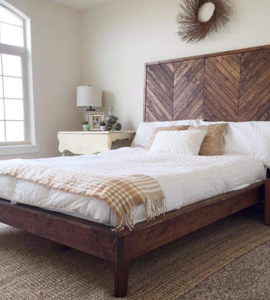 Chevron Platform Bed Wood Bed Design Bed Design Simple Bed
