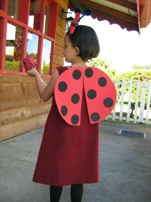 Disfraz casero de mariquita y murci lago my bday pinterest for Disfraces caseros adultos