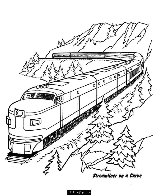 Freight Train Coloring Pages