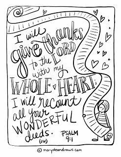 Printable Bible Coloring Page Psalm 91 By Marydean Draws