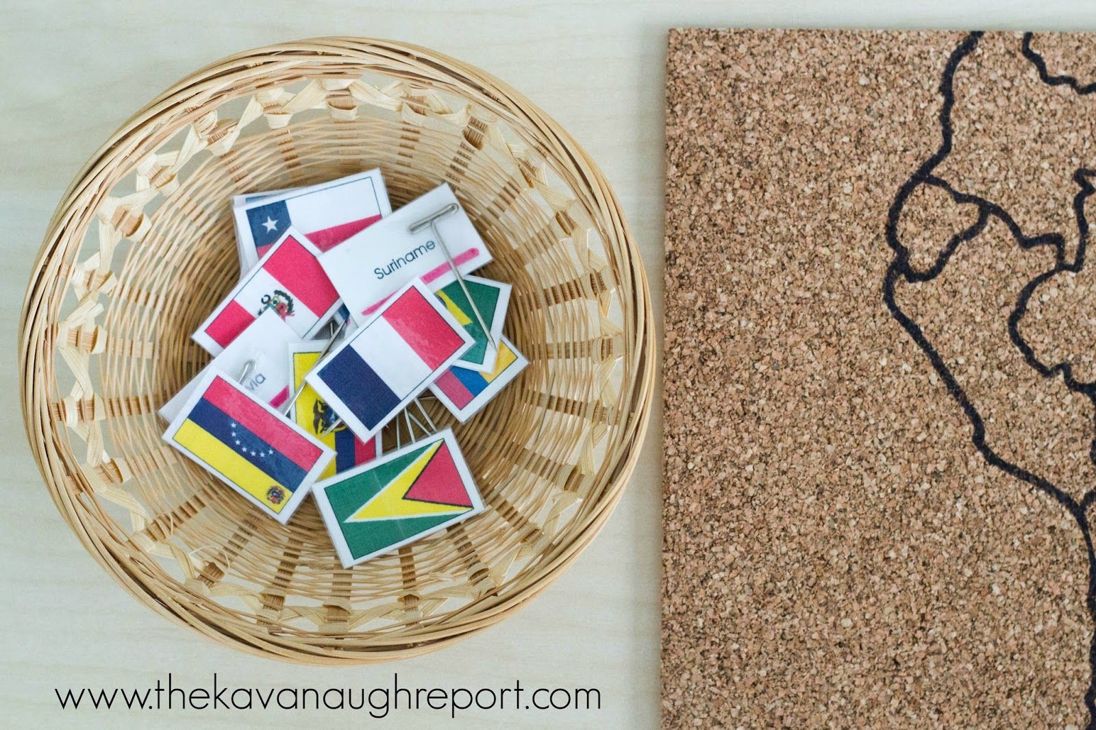A Diy Montessori Flag Pin Map Is A Great Way To Explore