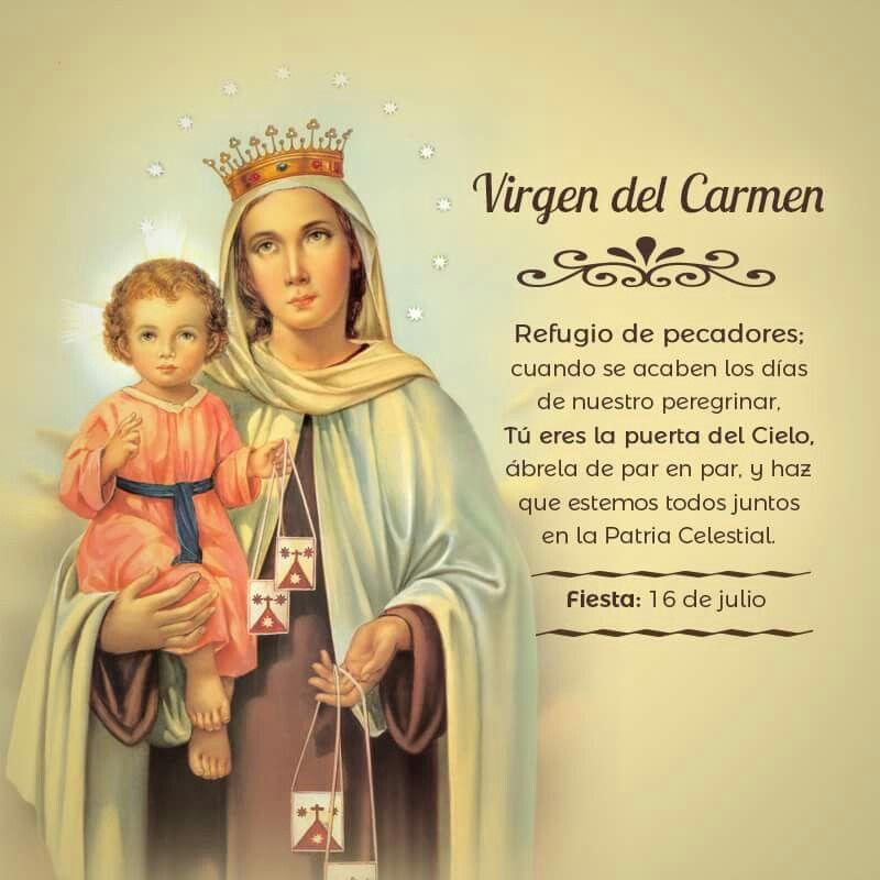 Virgen Del Carmen Oraciones Catolicas Oración A San