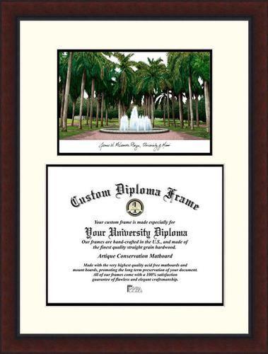 University of Miami Hurricanes Diploma Frame Lithograph Legacy ...