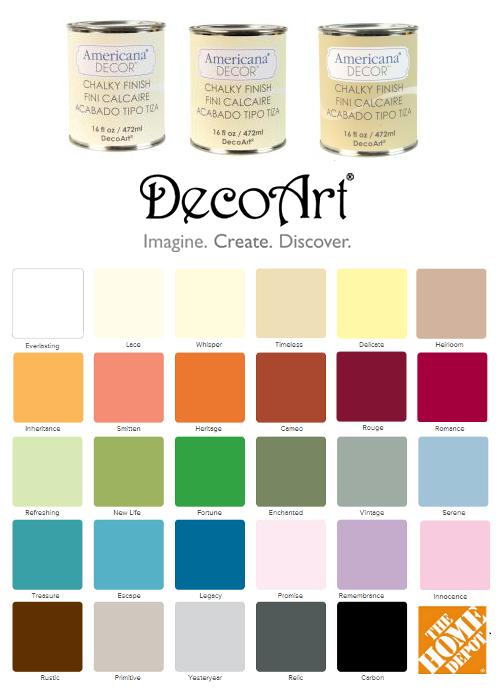 Decoart Chalk Paint Line Sold At Home Depot Americana Decor Chalk Paint American Decor Chalk Paint Chalk Paint Colors