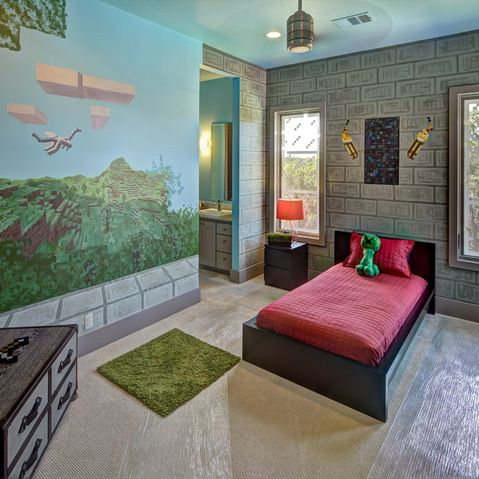 Perfect Minecraft Bedroom For The Boys.