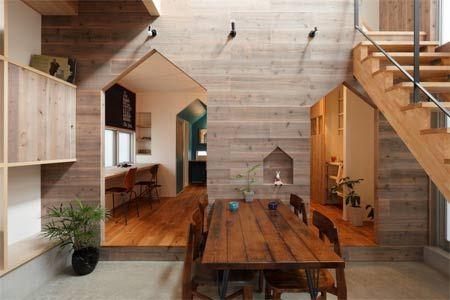 Arredamento Interno Di Una Casa Moderna A Kyoto