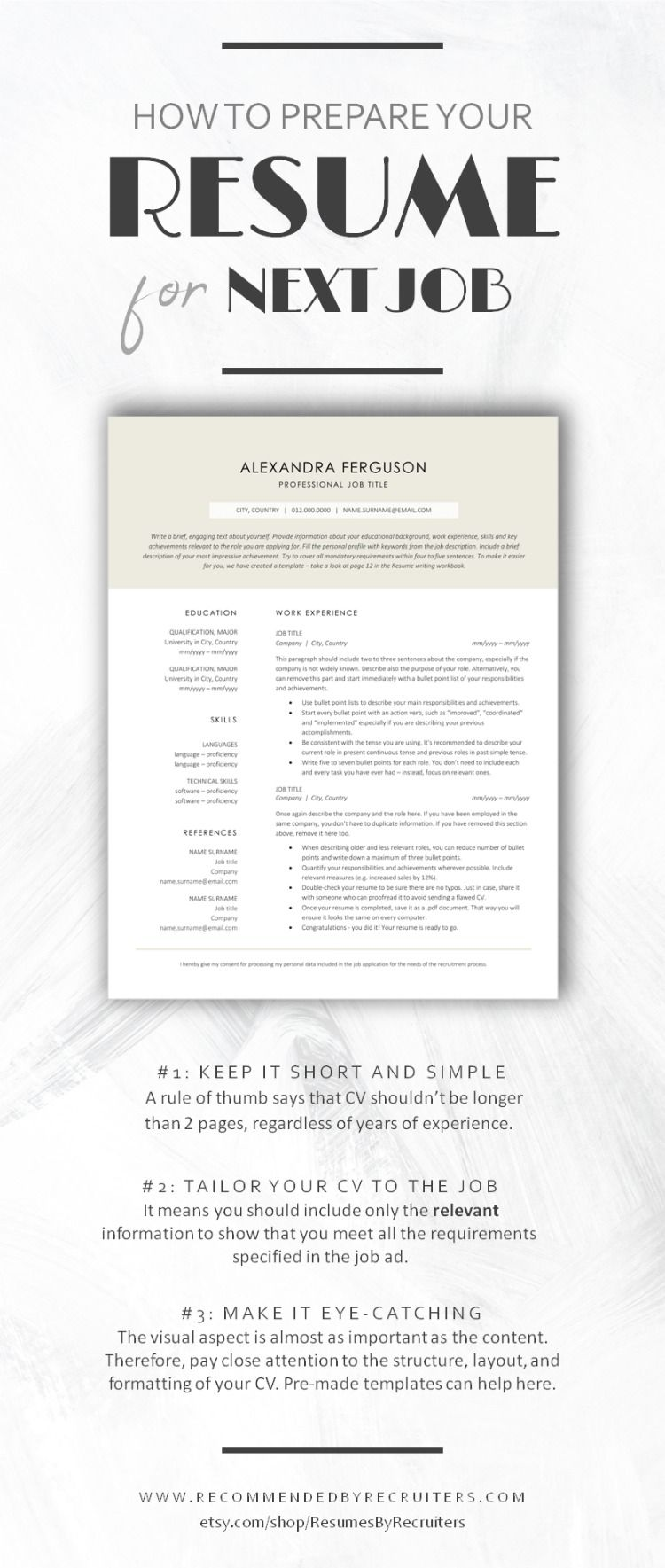 How to Prepare Resume for the Next Job CV Writing Tips