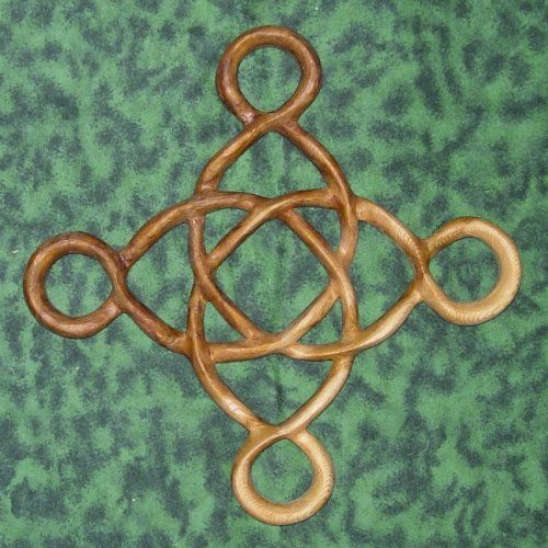 This would make a cool tattoo  Prosperity Knot-Abundance and Well-Being-Celtic Wood Carving | signsofspirit - Woodworking on ArtFire