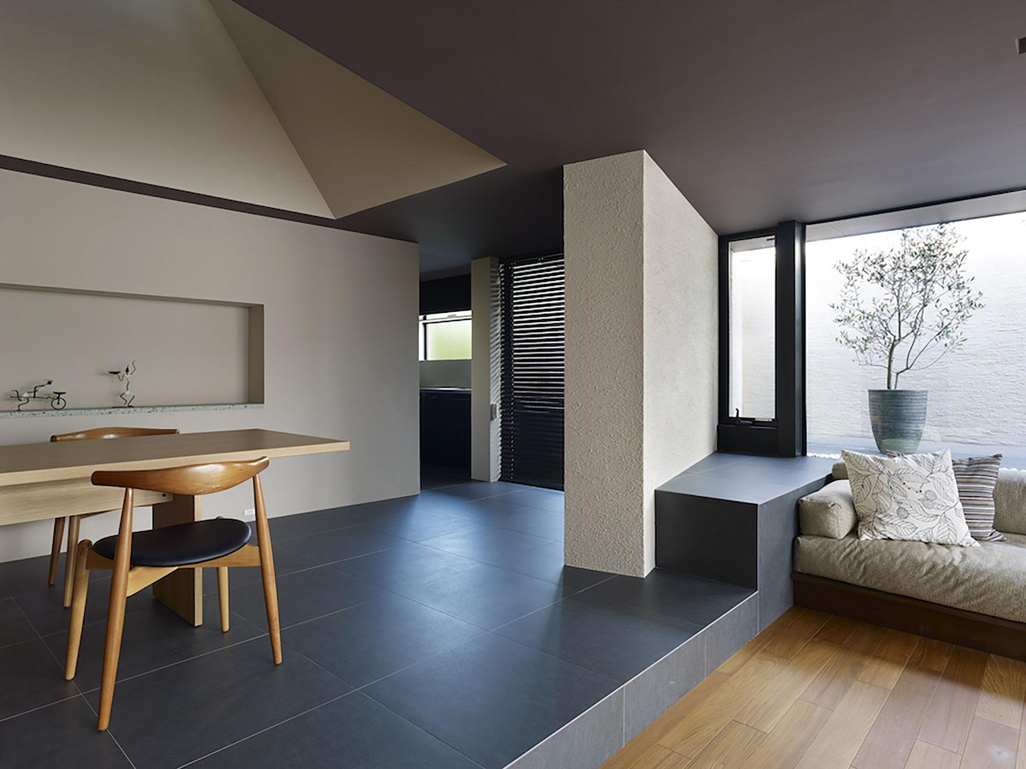 Cambio de piso y desnivel sala y comedor pinterest for Escaleras de sala