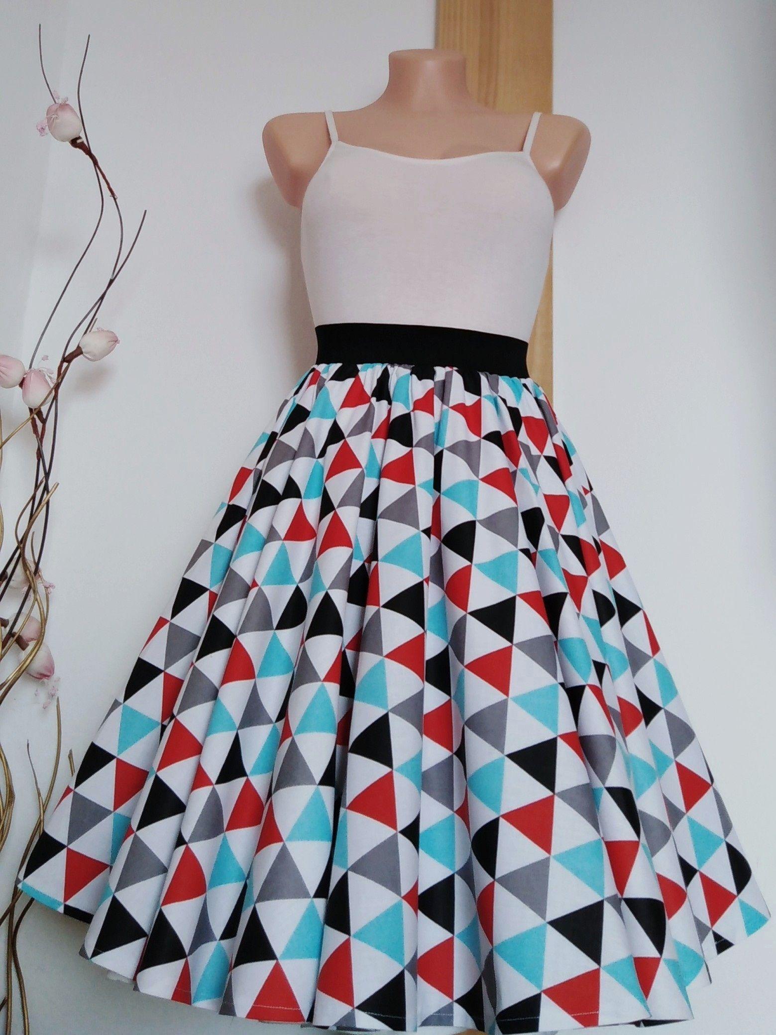 7d56677a0788 Sukně+kolo+trojuhelník+Kolová+sukně+z+kvalitní+pevné+100%+bavlny.+ ...