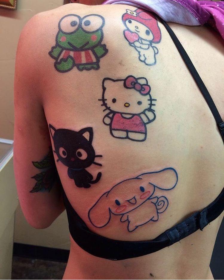 Pin By Destiny Morales On Aesthetic Hello Kitty Tattoos Kawaii Tattoo Cute Tats