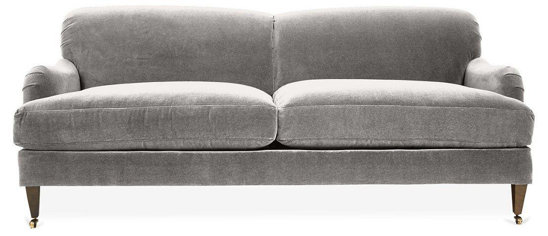 Brampton Sofa Light Gray Crypton 2 295 00 Velvet Sofa Living Room