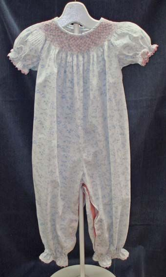 Maggie's Classics #138 is a bishop romper that looks so sweet on little girls!