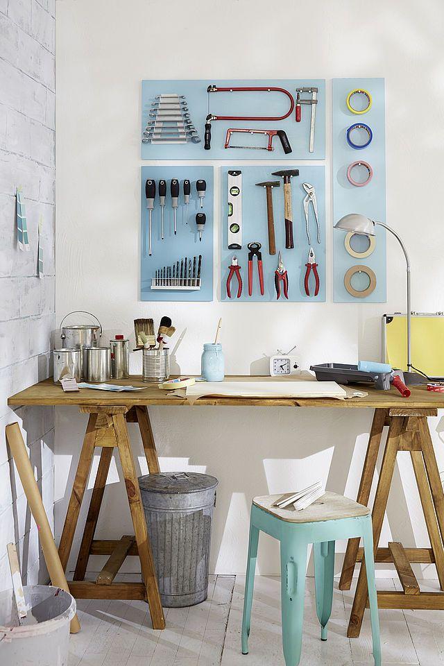 simpel und trotzdem genial bau dir deine eigene werkzeugwand und du musst nie wieder nach dem. Black Bedroom Furniture Sets. Home Design Ideas