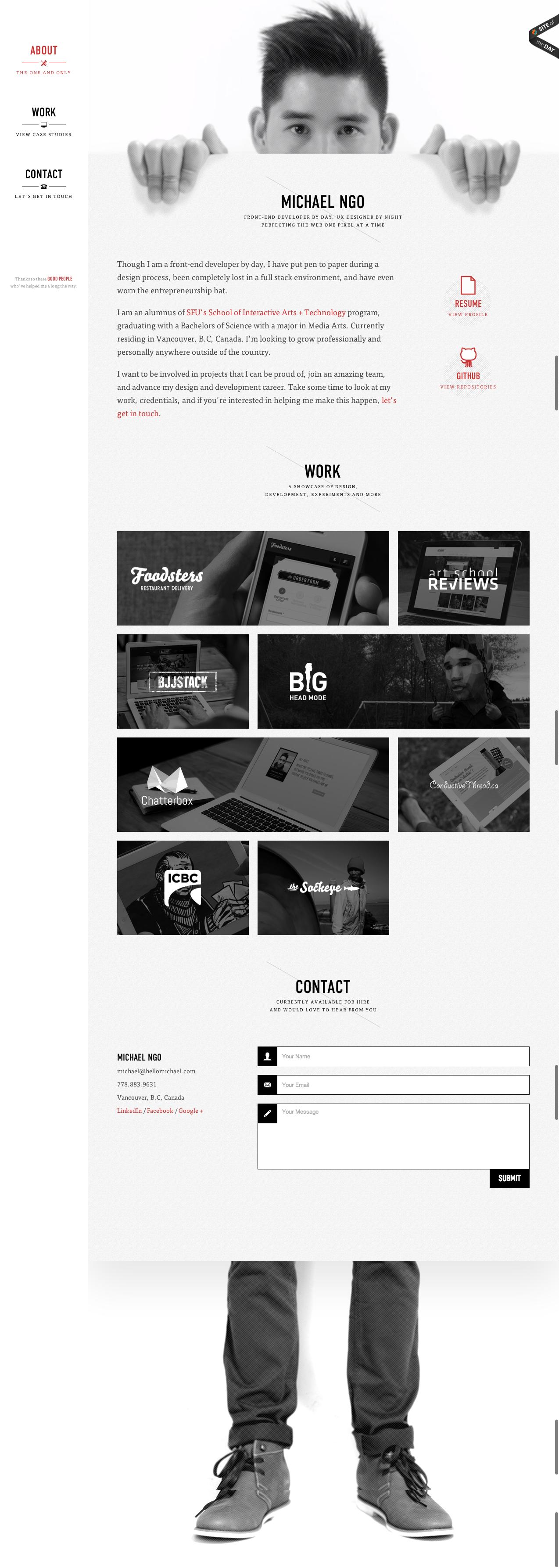 Screenshot - Web Design | Design: UI/UX. Apps. Websites | Michael Ngo |