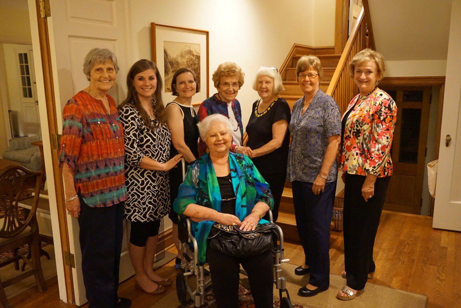 "Eagle Forum on Twitter: ""EF members Eunie Smith, Glyn Wright, Anne Schlafly Cori, Rosina Kovar, Shirley Curry, Carolyn McLarty, Cathie Adams, & Pat Andrews seated https://t.co/2sedDAOLKD"""
