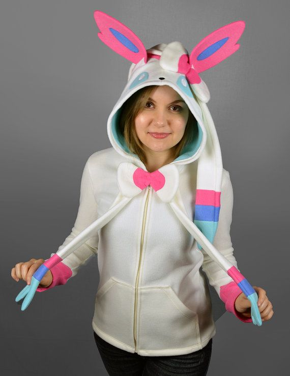 Sylveon Pokemon Costume Hoodie Women s Small by CholyKnight 9871a9d64839