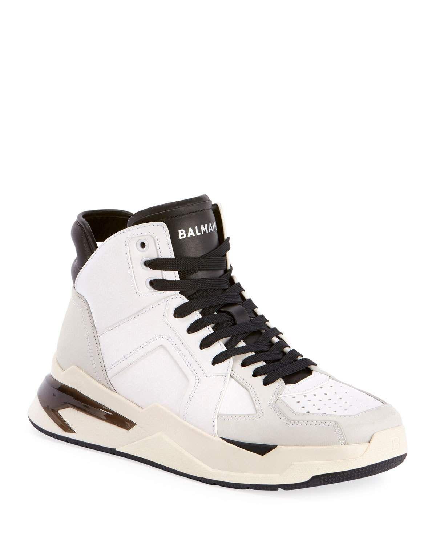 Balmain B-ball Sneakers In White Color