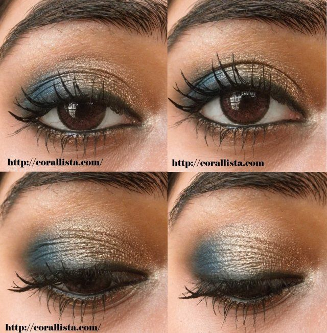 Photo of Festive Turquoise and Bronze eye makeup Tutorial