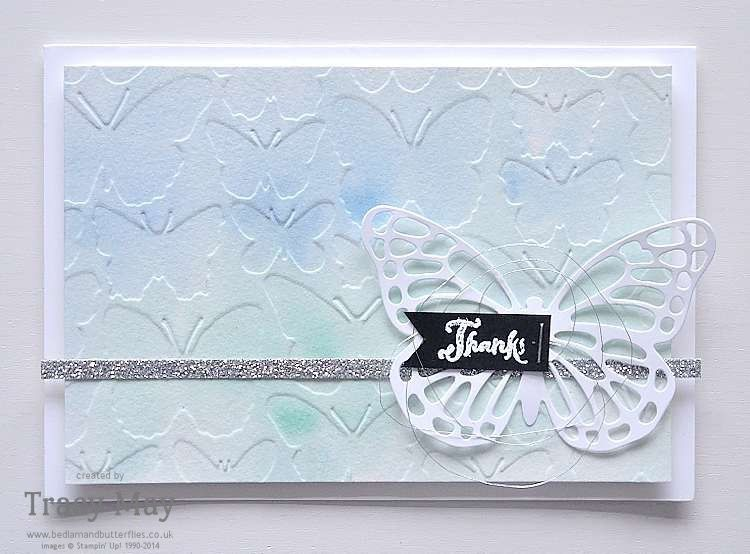 Card Making Ideas Using Embossing Folders Part - 47: Thank You Card Using Fluttering Embossing Folder From Stampinu0027 Up! Pretty Card  Making Ideas From Bedlam U0026 Butterflies ,Tracy May UK Demonstrator