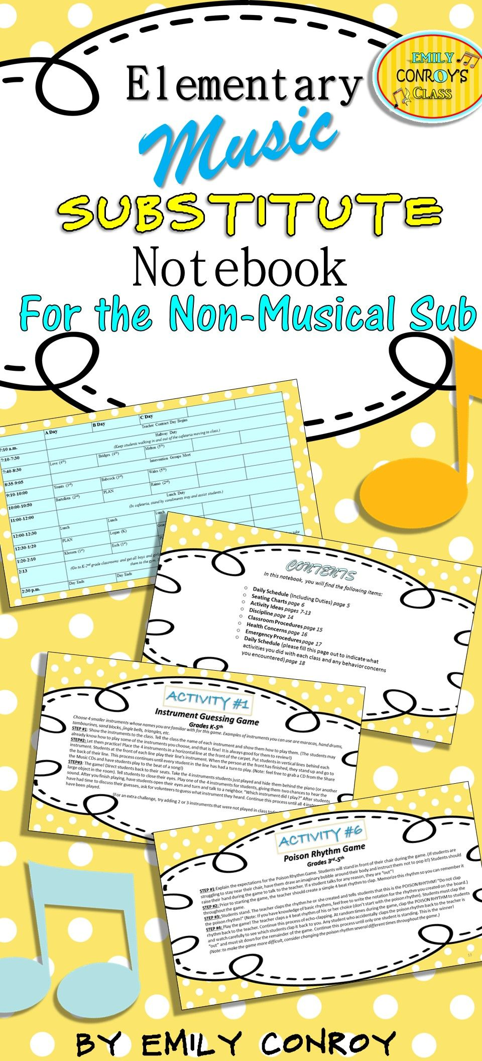 Music Sub Plans For The Non Musical Sub Music Substitute Music Sub Plans Kindergarten Music