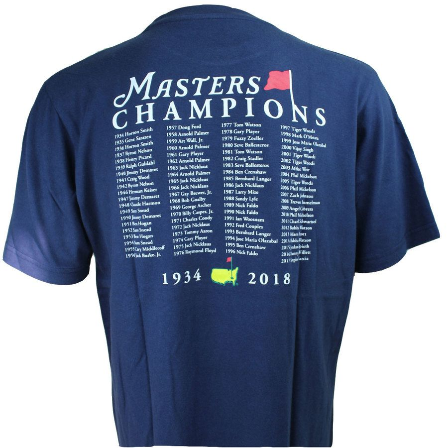6a77e0d0a47 These 2018 Navy Masters Champions T-Shirts are one of the hottest pieces of  merchandise at the Masters Tournament Pro Shop at Augusta National.