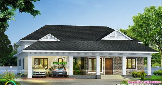 Modern bungalow architecture sq ft in house design also rh pinterest