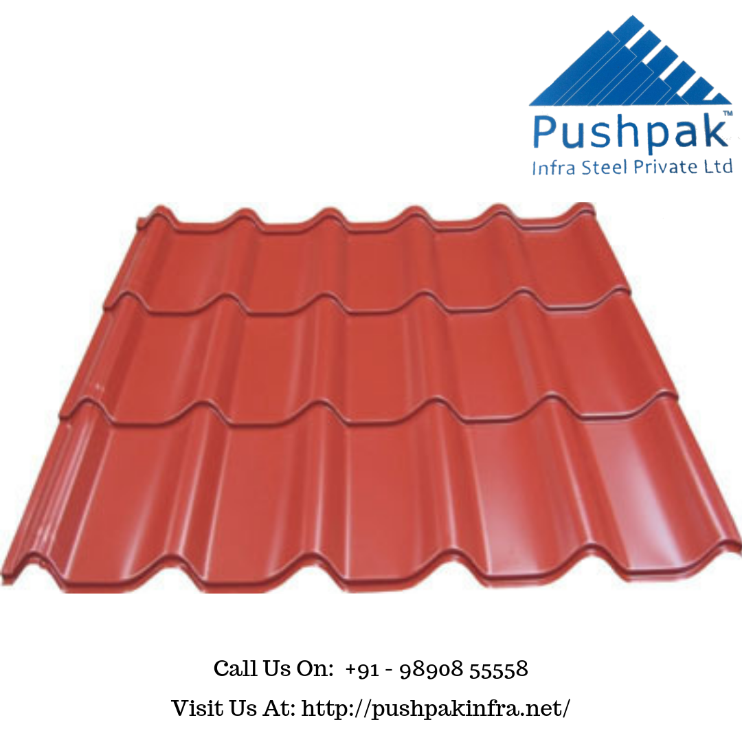 Pushpak Infrasteel Is Best Metal Roofing Tile Profile Sheets Manufacturer Supplier And Distributor Company In Pune India We Of Metal Roof Roofing Metal Deck
