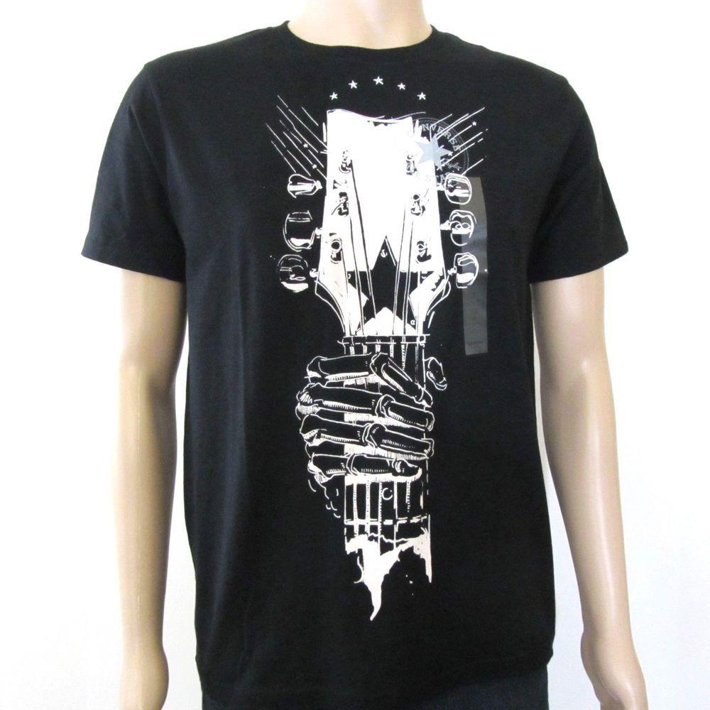 teléfono Cita animación  Converse Chuck Taylor All Star Mens T Shirt Black White Guitar Graphic  Small #Converse #GraphicTe… | White shirt men, Converse all star mens, Men's  graphic t shirt
