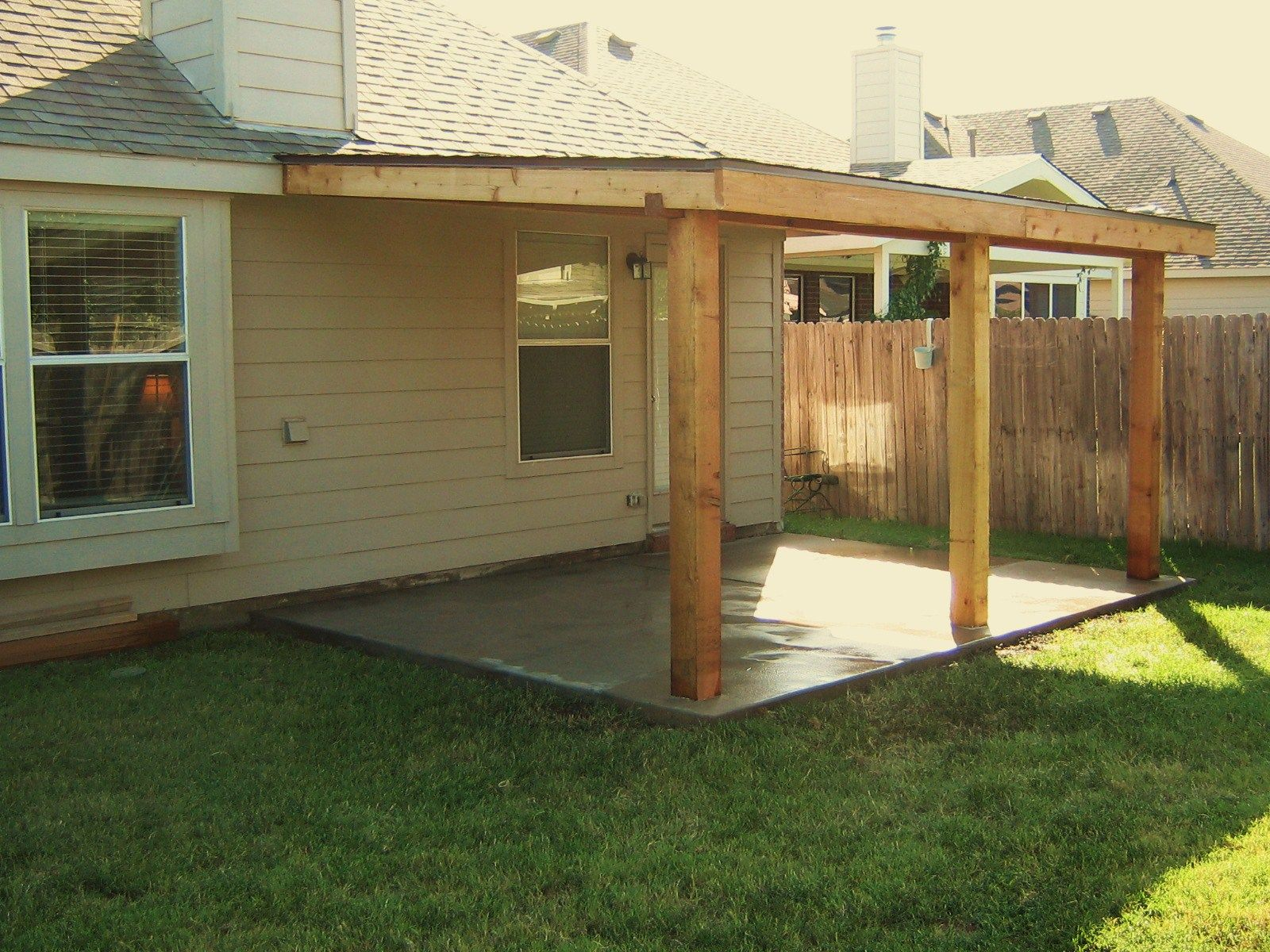 Patio Covers Cedar Patio Cover 10 X16 Basic Model Home And