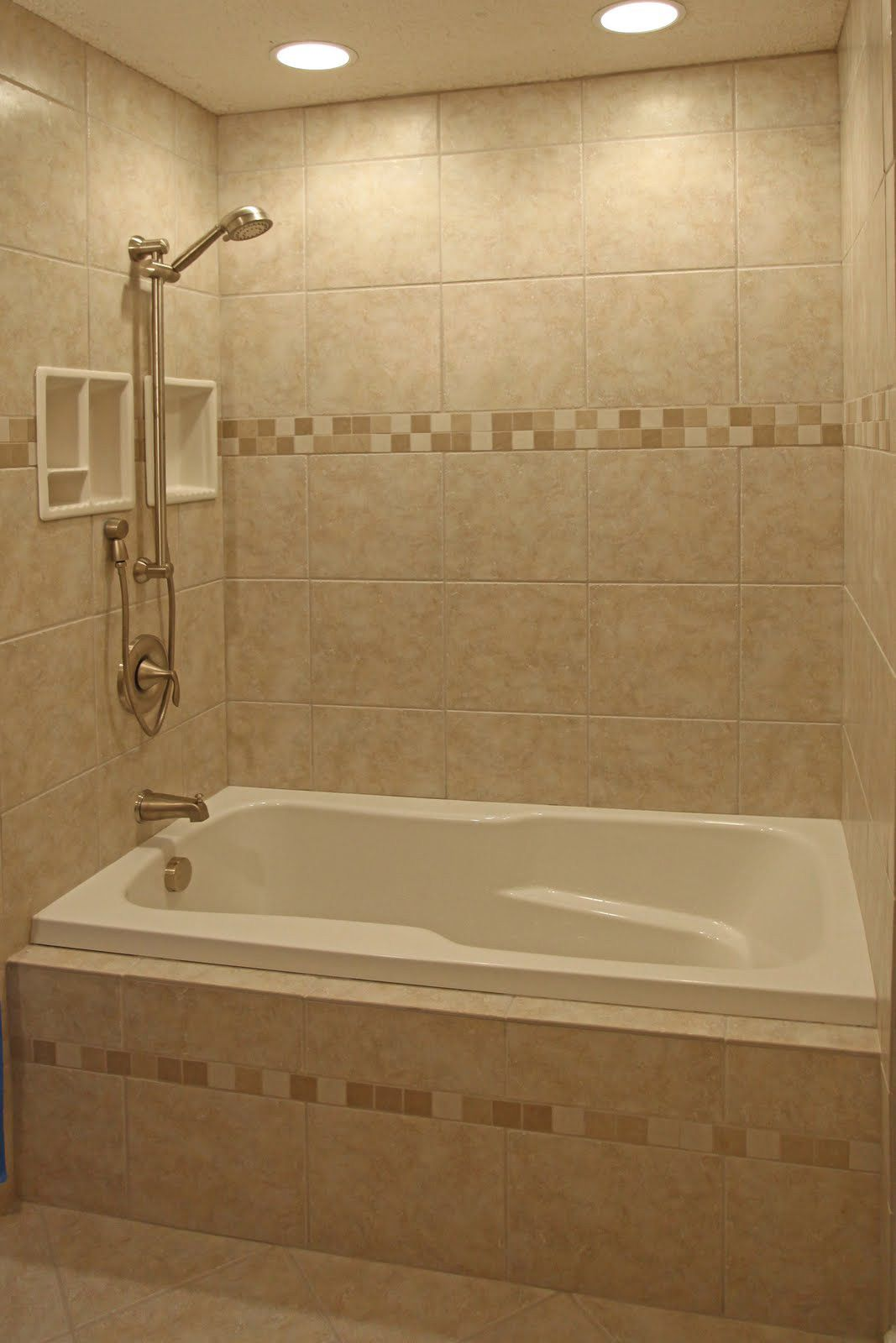 Travertine Tile Designs tile stripe could match shower floor tile. | bathroom redux