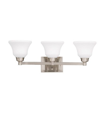 Photo of Kichler 5390NI Langford 3 Light 26 inch Brushed Nickel Vanity Light Wall Light in Standard