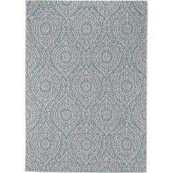 Photo of benuta indoor & outdoor rug Cleo beige / turquoise 80×150 cm – for balcony, terrace & garden benuta